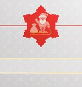 Christmas  Or New Year Background With Santa Claus