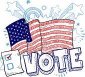 American election sketch