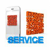 Servicio de telefonía móvil qrcode