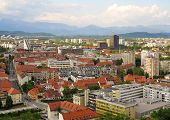 Beautiful Scene Of Capital City Ljubljana In Slovenia
