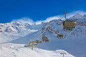 Постер, плакат: Гора горнолыжный курорт Hochgurgl Австрия