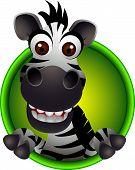 cute zebra head cartoon