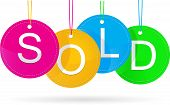 sold icon with color