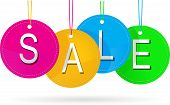 sale icon with color