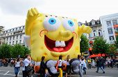 BRUSSELS, BELGIUM-SEPTEMBER 12: Balloons Day Parade, in frame of Comic Book Festival, on September 1