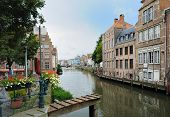 Channel in center of Ghent Belgium