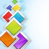 Colorful Rhombus In Metallic Frames