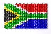 pic of zulu  - A traditional zulu beaded south african flag on an isolated background - JPG