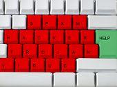 Keyboard - Red Key Virus, Trojan, Hackers