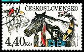 Vintage  Postage Stamp.  Winner.