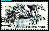 Vintage  Postage Stamp. Race.