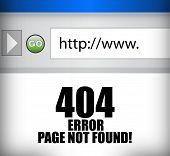 404 Error Page Not Found Browser Illustration