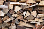 Firewood Stack Closeup