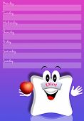 weekly planner for diet