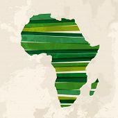 Vintage Multicolor Afrika