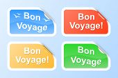 stock photo of bon voyage  - Bon Voyage labels - JPG