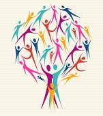 Diversity Human Colors Tree Set