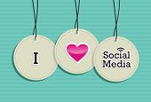 Social Media Hang Tags Label Set