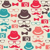 Hipsters Seamless Pattern