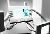 Young Asian woman on video conferencing screen