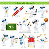 illustration of 3d education student in fully scalable vector