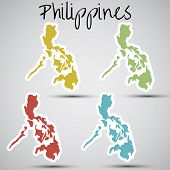 stickers in form of Philippines