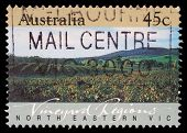 AUSTRALIA - CIRCA 1992: A Stamp printed in AUSTRALIA shows the North Eastern Vic, Vineyard Regions,