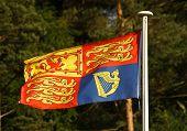 British Royal Standard Flag On Flagpole