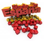 3D Made in Espa�?�?�?�±a with Spanish colors