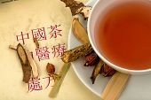 ingredientes para un té en la medicina tradicional China. curación de enfermedades a través de alternativa metho