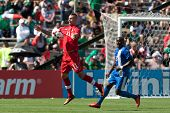 PASADENA, CA - JULY 7: Marcus Haber #11 of Canada in action during the 2013 CONCACAF Gold Cup game b