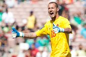 PASADENA, CA - JULY 7: Milan Borjan #18 of Canada during the 2013 CONCACAF Gold Cup game between Can