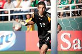 PASADENA, CA - JULY 7: Jaime Penedo #1 of Panama during the 2013 CONCACAF Gold Cup game between Mexi