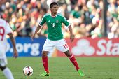 PASADENA, CA - JULY 7: Juan Carlos Valenzuela #18 of Mexico during the 2013 CONCACAF Gold Cup game b