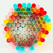 Radiation of Colorful straws
