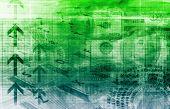 Un fondo de arte gráfico finanzas Spreadsheet Tech