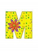 Alphabet Zany Dots M