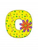 Alphabet Zany Dots O