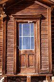 Old door with window