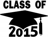 pic of senior class  - Mortar board Graduation Cap for College or High School graduating Class of 2015 - JPG