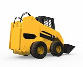 foto of skid  - Skid Steer Loader isolated on white background - JPG