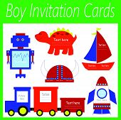 boy invitation cards