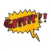 foto of growl  - retro cartoon comic book growl symbol - JPG