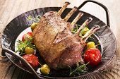 stock photo of deer meat  - venison carree - JPG