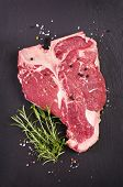 stock photo of ribeye steak  - t - JPG
