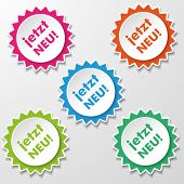Jetzt Neu Colorful Star Paper Labels