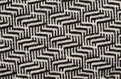 Hand Knit Wool Zigzag Pattern Black White Backdrop
