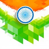 creative vector indian flag wave style background
