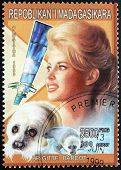 Brigitte Bardot Stamp