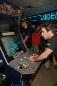 Zachary Quinto at Stride Gum's 'Save The Arcades' to save endangered video game arcades, Video West